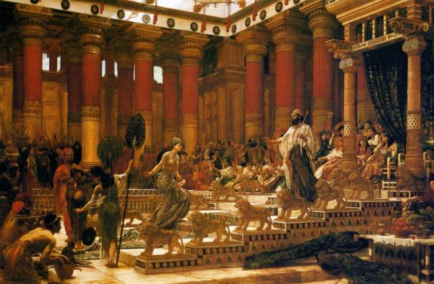 Цар Соломон и Савската царица. Картина на Edward Poynter, 1890. Wikipedia