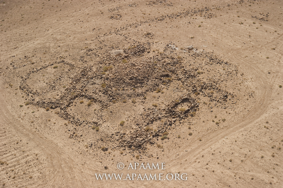 Една от кулите в Кхат Шебиб. © Robert Bewley, Aerial Photographic Archive for Archaeology in the Middle East